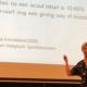"""Voor 130 collega's fysiotherapie mocht """"onze"""" Ellen van de Brink uitleg geven over de huidige protocollen bij het onderdeel chronische enkelinstabiliteit."""
