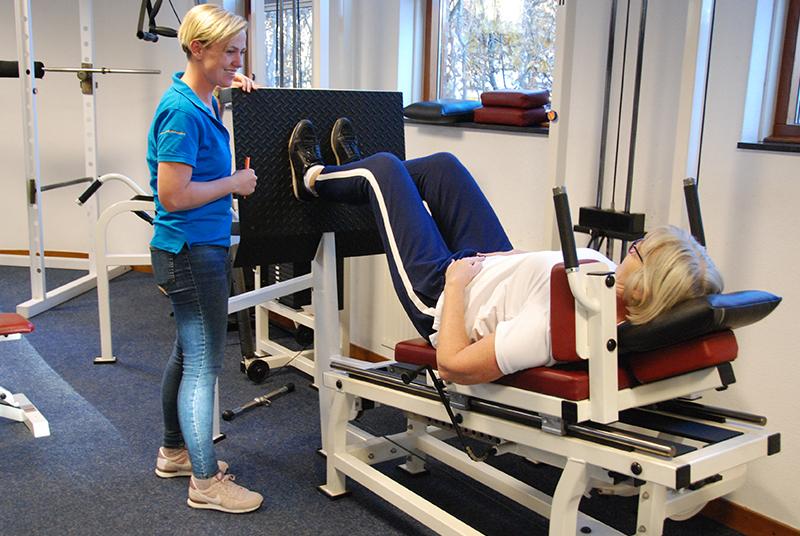 trainen bij Arcus Fysiotherapie Zutphen onder begeleiding fysiotherapeut