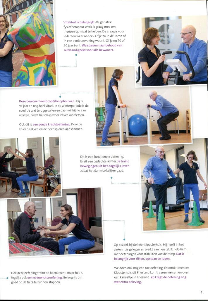 Eendag meelopen met Arcus geriatrie fysiotherapeut Wilma Nijenhuis
