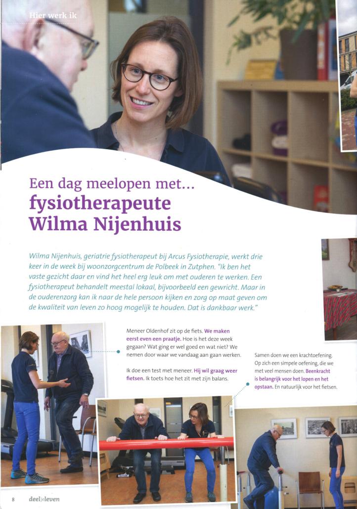 een dag meelopen met Wilma Nijenhuis