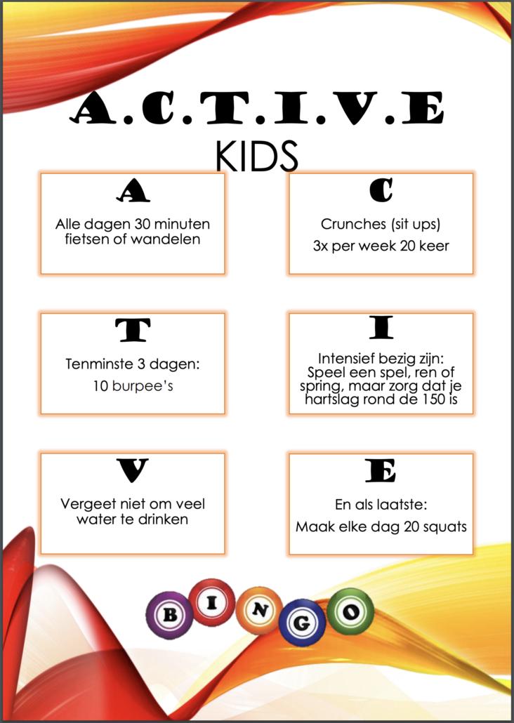 Bingo Active Kids Arcus Fysiotherapie Zutphen