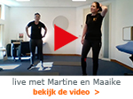 live video Martine en Maaike
